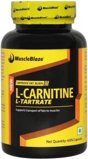 MuscleBlaze L-Carnitine L-Tartrate (60 Capsules) Unflavoured