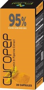 Sharrets Nutritions Curopep Curcumin And Piperin Supplements (30 Capsules) - Pack of 2