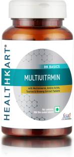 HealthKart Multivitamin with Ginseng Extract, 90 Tablets