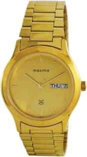 Maxima 01377CMGY Gold Analog Gold Dial Men's Watch (01377CMGY)