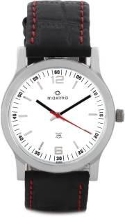 Maxima 20880LMGI Attivo Steel Analog White Dial Men's Watch (20880LMGI)