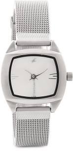 Fastrack NG6001SM01 Urban Kitsch Upgrades Analog White Dial Women's Watch (NG6001SM01)
