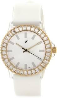 Fastrack NG9827PP01 Hip Hop Analog White Dial Women's Watch (NG9827PP01)