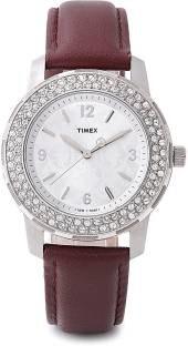 Timex T2N152 Fashion Analog Silver Dial Women's Watch (T2N152)