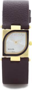 Sonata ND8919YL03AC Yuva Gold Analog Silver Dial Women's Watch (ND8919YL03AC)
