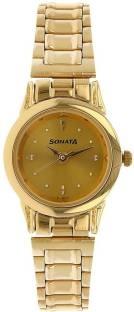 Sonata NH8925YM02CJ Analog Gold Dial Women's Watch (NH8925YM02CJ)