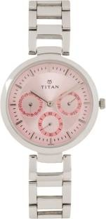 Titan Youth NF2480SM05 Analog Pink Dial Women's Watch (NF2480SM05)