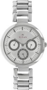 Titan NF2480SM03 Quartz Silver Round Women's Watch (NF2480SM03)