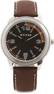 Titan Youth NF1585SL03 Analog Black Dial Men's Watch (NF1585SL03)