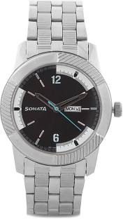 Sonata NG7100SM02 Everyday Analog Black Dial Men's Watch (NG7100SM02)