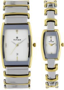 Titan NH13772385BM01 Bandhan Analog Multicolor Dial Couple Watch (NH13772385BM01)