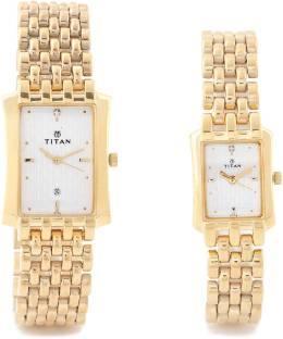 Titan NH19272927YM01 Bandhan Analog White Dial Couple Watch (NH19272927YM01)
