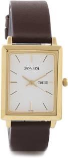 Sonata NG7078YL03 Analog White Dial Men's Watch (NG7078YL03)