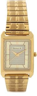 Sonata NF7007YM13 Gold Dial Analog Men's Watch (NF7007YM13)