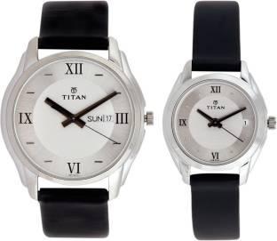 Titan NH15782489SL03 Bandhan Analog Silver Dial Couple Watch (NH15782489SL03)