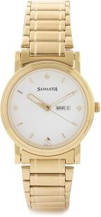 Sonata NC1141YM11 Classic Analog White Dial Men's Watch (NC1141YM11)