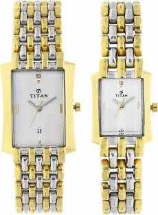 Titan NH19272927BM01 Bandhan Analog White Dial Couple Watch (NH19272927BM01)