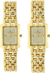 Titan NH19272927YM02 Bandhan Gold Dial Couple Watch (NH19272927YM02)