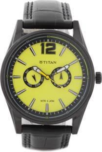 Titan Octane NC9322NL01 Analog Yellow Dial Men's Watch (NC9322NL01)