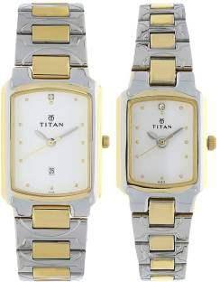 Titan NH19552955BM01 Bandhan Analog White Dial Couple Watch (NH19552955BM01)