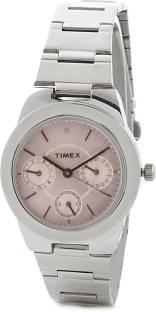 Timex J100 E Class Analog Pink Dial Women's Watch (J100)