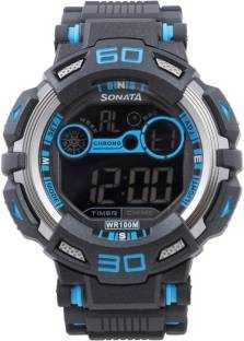 Sonata NH77009PP02J Digital Black Dial Men's Watch (NH77009PP02J)