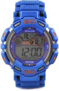 Sonata NH77009PP04J Digital Grey Dial Men's Watch (NH77009PP04J)