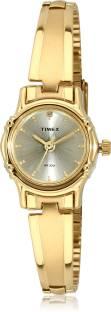 Timex B807 Classic Gold Dial Analog Women Watch (B807)