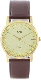 Timex A301 Classics Analog Gold Dial Men's Watch (A301)