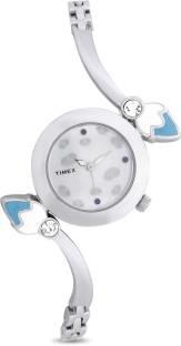 Timex TI000N80600 Bangle Analog Silver Dial Women's Watch (TI000N80600)