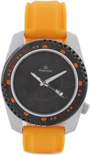 Maxima 26750PMGT Attivo Steel Analog Black Dial Men's Watch (26750PMGT)