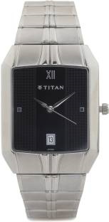 Titan NH9264SM02 Quartz Black Rectangle Men's Watch (NH9264SM02)