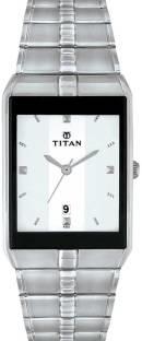 Titan ND9151SM01J Quartz White Rectangle Men's Watch (ND9151SM01J)