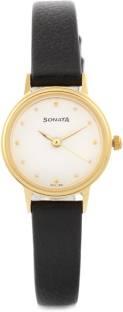 Sonata 8096YL01C Analog White Dial Women's Watch (8096YL01C)