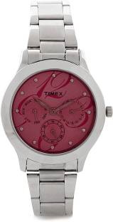 Timex TI000Q80200 E Class Analog Red Dial Women's Watch (TI000Q80200)