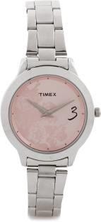 Timex TI000T60100 Fashion E Class Analog Pink Dial Women's Watch (TI000T60100)