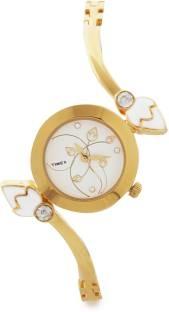 Timex TI000N80000 Bangle Analog Silver Dial Women's Watch (TI000N80000)