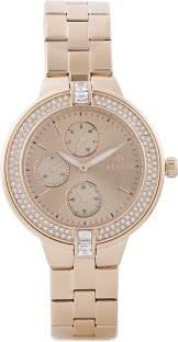 Titan NF9967WM01J Analog Gold Dial Women's Watch (NF9967WM01J)