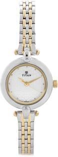 Titan Karishma 2521BM01 Analog White Dial Women's Watch (2521BM01)