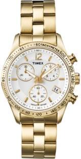 Timex T2P058 E Class White Dial Analog Women's Watch (T2P058)