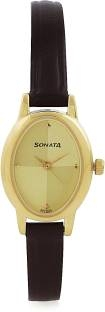Sonata 8100YL02C Analog Gold Dial Women's Watch (8100YL02C)