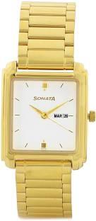Sonata NG7053YM04A Analog White Dial Men's Watch (NG7053YM04A)