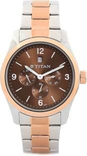 Titan NH9493KM01J GFSTL Multi Function Analog Brown Dial Men's Watch (NH9493KM01J)