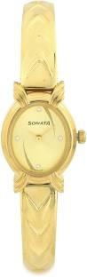 Sonata 8110YM01 Analog Yellow Dial Women's Watch (8110YM01)