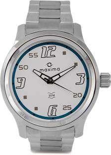 Maxima 24056CMGI Attivo Analog White Dial Men's Watch (24056CMGI)