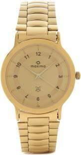 Maxima 01576CMGY Gold Analog Gold Dial Men's Watch (01576CMGY)
