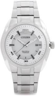 Citizen BM6901-55B White Dial Eco- Drive Analog Watch For Men (BM6901-55B)
