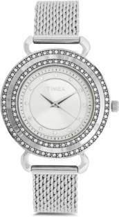 Timex T2P231 Fashion Analog Silver Dial Women's Watch (T2P231)