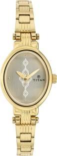 Titan NF2535YM01 Analog White Dial Women's Watch (NF2535YM01)