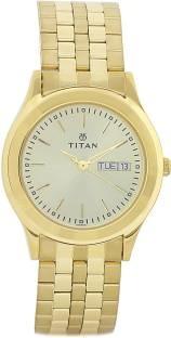 Titan NH1648YM05 Analog Gold Dial Men's Watch (NH1648YM05)